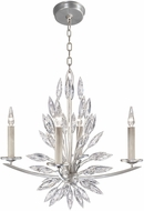 Fine Art Lamps 883440ST Lily Buds Silver Chandelier Light