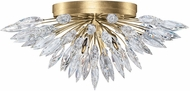 Fine Art Lamps 883640-1ST Lily Buds Gold Flush Mount Lighting