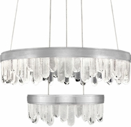 Fine Art Lamps 889640-1ST Lior Contemporary Silver LED 30.5  Drop Ceiling Lighting