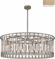 Fine Art Lamps 890240-2ST Westminster Gold Drum Hanging Pendant Light