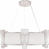 Fine Art Lamps 890840-11ST Crownstone Contemporary Silver 32 Drum Hanging Light
