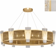 Fine Art Lamps 891040-21ST Crownstone Contemporary Gold 45  Drum Hanging Light Fixture