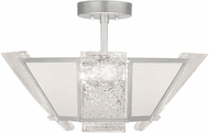 Fine Art Lamps 891340-11ST Crownstone Contemporary Silver Ceiling Light