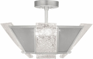 Fine Art Lamps 891340-12ST Crownstone Modern Silver Ceiling Light Fixture