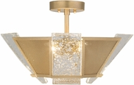 Fine Art Lamps 891340-22ST Crownstone Modern Gold Ceiling Light Fixture