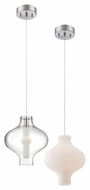 Philips Abacus 9 Inch Diameter Mini Satin Nickel Modern Lighting Pendant