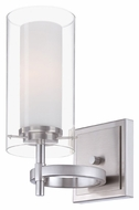 Philips FN0003836 Hula Contemporary 10 Inch Tall Satin Nickel Lighting Sconce