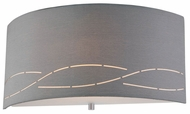 Philips Silver Laser 12 Inch Wide Satin Nickel Wall Lighting Fixture