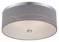 Philips Silver Laser Large Contemporary 20 Inch Diameter Satin Nickel Ceiling Lamp