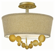 Fredrick Ramond 31241SPG Barolo Contemporary Spanish Gold Finish 16.5  Wide LED Ceiling Lighting