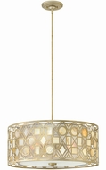Fredrick Ramond 37123SLF Isla Modern Silver Leaf Drum Hanging Light