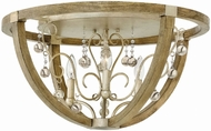 Fredrick Ramond 37231SLF Abingdon Modern Silver Leaf Ceiling Lighting Fixture