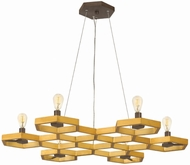 Fredrick Ramond 38016SSG Moxie Contemporary Sunset Gold Ceiling Chandelier