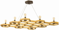 Fredrick Ramond 38018SSG Moxie Modern Sunset Gold Island Lighting