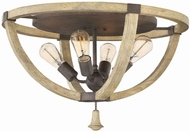 Fredrick Ramond 40571IRR Middlefield Iron Rust Ceiling Light Fixture