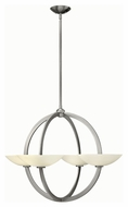 Fredrick Ramond 40756BNI Method Contemporary Brushed Nickel Finish 33.75  Wide Chandelier Lamp