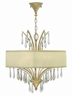 Fredrick Ramond FR40775SLF Camilla Silver Leaf Chandelier Lighting