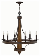 Fredrick Ramond 41246VBZ Bastille Vintage Bronze Finish 29  Wide Ceiling Chandelier