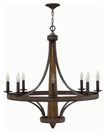 Fredrick Ramond 41248VBZ Bastille Vintage Bronze Finish 37  Tall Hanging Chandelier