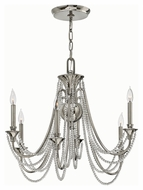 Fredrick Ramond 42006PNI Cortina Polished Nickel Finish 28.25  Wide Chandelier Light