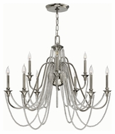 Fredrick Ramond 42008PNI Cortina Polished Nickel Finish 31  Tall Chandelier Lighting