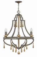 Fredrick Ramond FR42286DIR Cordoba Distressed Iron Chandelier Lamp