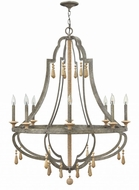 Fredrick Ramond FR42288DIR Cordoba Distressed Iron Ceiling Chandelier