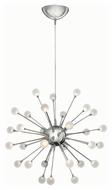 Fredrick Ramond 44413PCM Impulse Modern Polished Chrome Finish 24  Tall LED Chandelier Lamp