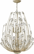 Fredrick Ramond FR31028SLF Tulah Silver Leaf Chandelier Light
