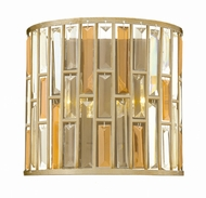 Fredrick Ramond FR33732SLF Gemma Silver Leaf Sconce Lighting