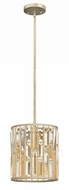 Fredrick Ramond FR33737SLF Gemma Silver Leaf Mini Drum Hanging Light Fixture