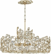 Fredrick Ramond FR44814SLF Anya Silver Leaf Chandelier Light
