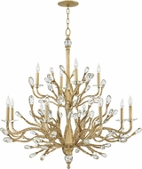 Fredrick Ramond FR46810CPG Eve Champagne Gold Chandelier Lighting