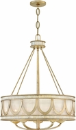 Fredrick Ramond FR48055CPG Sirena Contemporary Champagne Gold Drum Ceiling Light Pendant