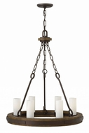 Fredrick Ramond FR48435IRN Cabot Rustic Iron Mini Chandelier Lamp