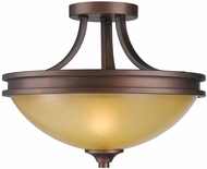 Golden Lighting 1051-SF-SBZ Hidalgo Sovereign Bronze Semi-Flush Ceiling Lighting Fixture