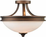 Golden Lighting 1051-SF-SBZ-OP Hidalgo Sovereign Bronze Semi-Flush Ceiling Light Fixture