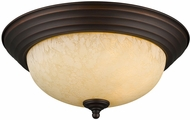 Golden Lighting 1260-13-RBZ-TEA Multi-Family Rubbed Bronze 13  Flush Ceiling Light Fixture