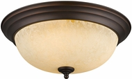 Golden Lighting 1260-15-RBZ-TEA Multi-Family Rubbed Bronze 15  Overhead Light Fixture