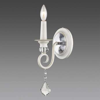 Golden Lighting 1323-1W-FW Ella FW French White Wall Sconce