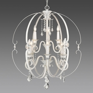 Golden Lighting 1323-9-FW Ella FW French White 30  Lighting Chandelier