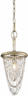 Golden Lighting 1425-M1L-WG Sancerre White Gold Halogen Mini Drop Lighting Fixture