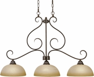 Golden Lighting 1567-10-PC Riverton Peppercorn Kitchen Island Lighting