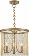 Golden Lighting 1771-3P-PG-CRY Marilyn Peruvian Gold 15  Pendant Lighting