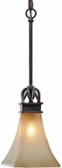 Golden Lighting 1850-M1L-RT Genesis Roan Timber Mini Hanging Lamp