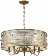 Golden Lighting 1993-5-PG Joia PG Peruvian Gold 26  Drum Pendant Lamp