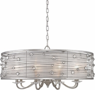 Golden Lighting 1993-8-PS Joia Peruvian Silver Drum Pendant Lighting Fixture