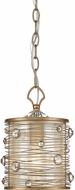 Golden Lighting 1993-M1L-PG Joia PG Peruvian Gold Mini Drum Hanging Light