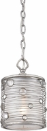 Golden Lighting 1993-M1L-PS Joia Peruvian Silver Mini Drum Hanging Pendant Lighting