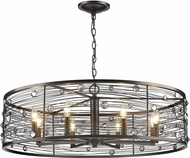 Golden Lighting 1998-8-EBB Bijoux Brushed Etruscan Bronze 33.5  Drum Hanging Pendant Lighting